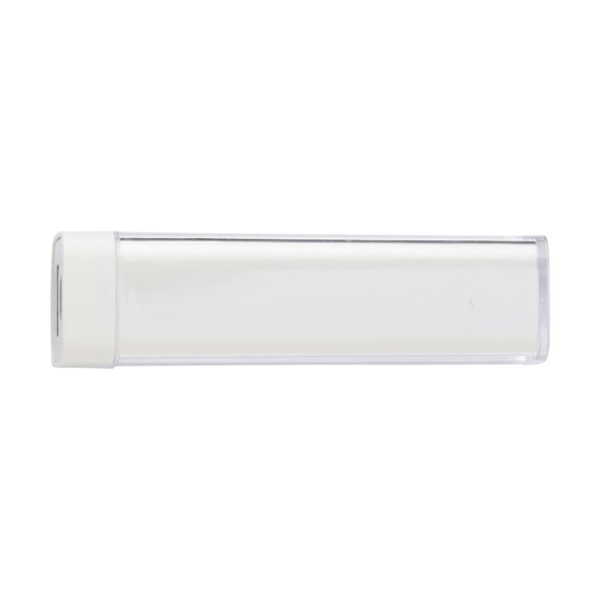 Plastic power bank. in white