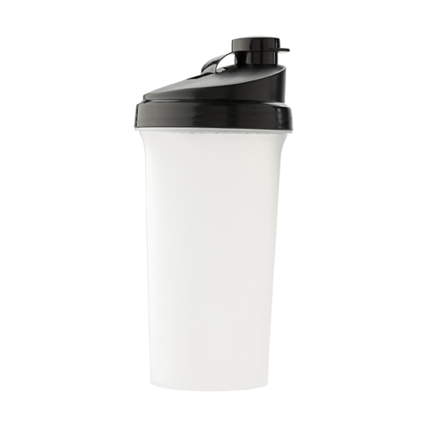 Protein shaker. 700ml in red