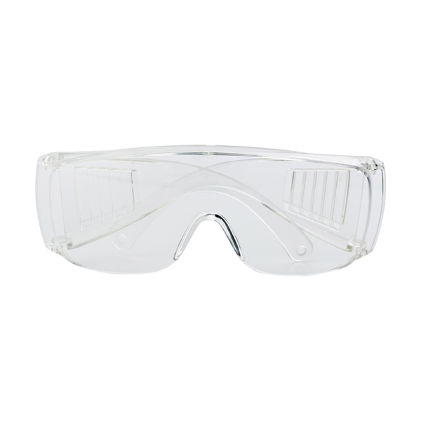 Clear safety glasses. in transparent