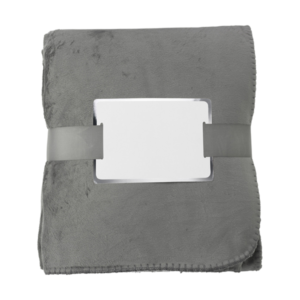 Polyester micro mink anti-pilling blanket in grey