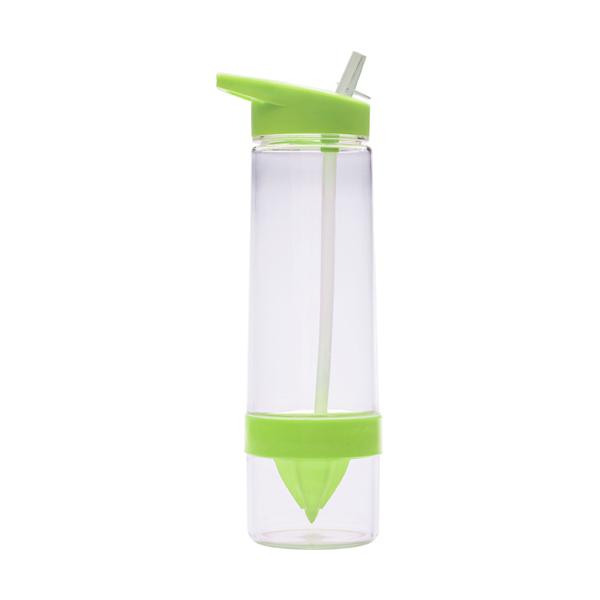 Tritan plastic water bottle. in light-green