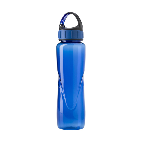 Tritan water bottle. in blue