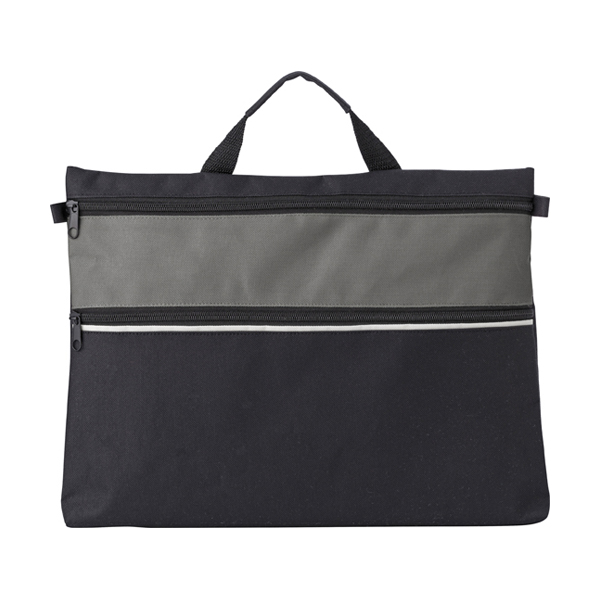 Polyester 600D document bag. in grey