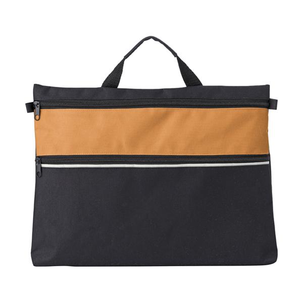 Polyester 600D document bag. in orange