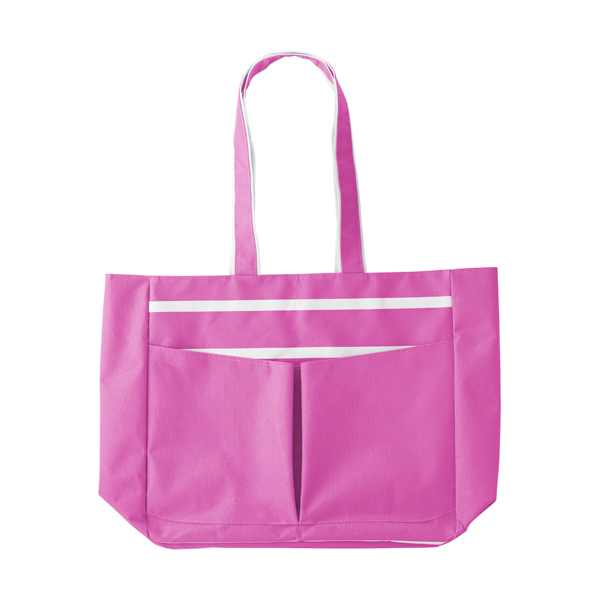 Polyester 600D beach bag. in pink