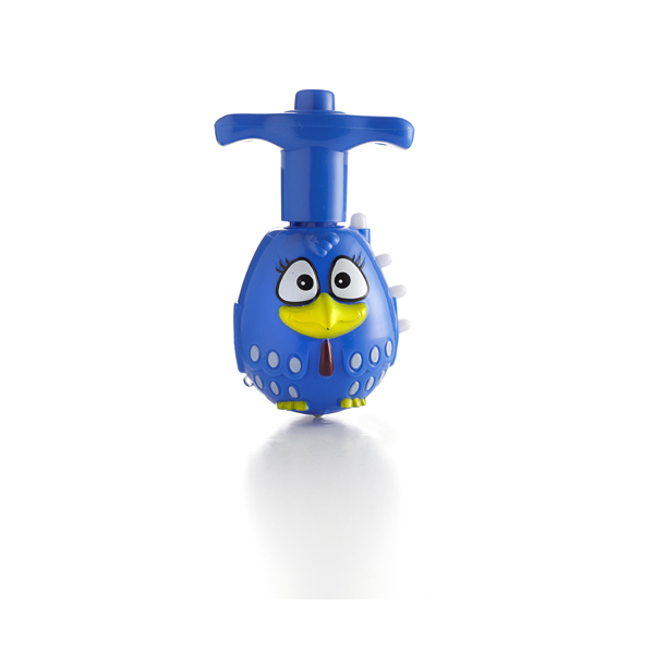 Plastic wind up whirlabout. in blue