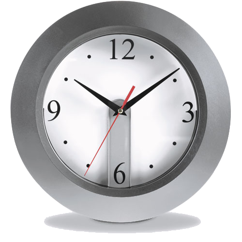 Wall clock in silver