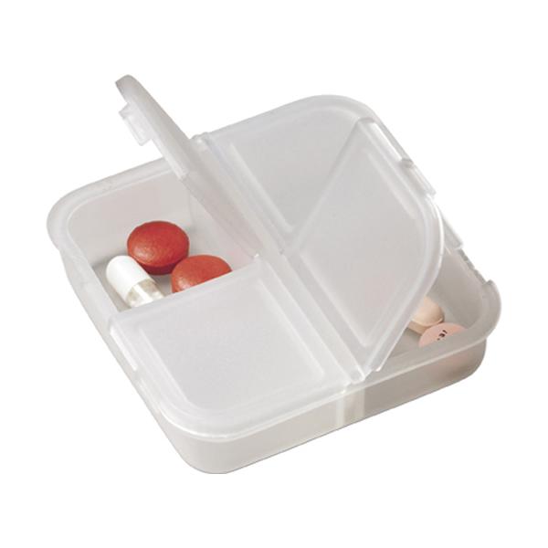 Plastic pill box in transparent