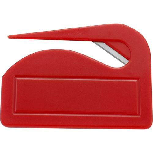 Plastic letter opener in white