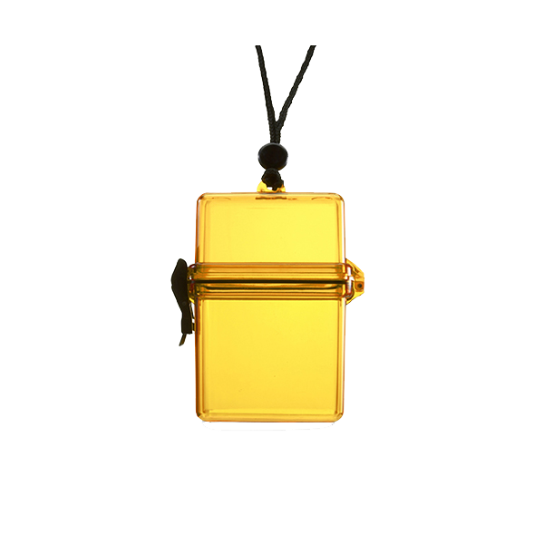Waterproof container. in yellow