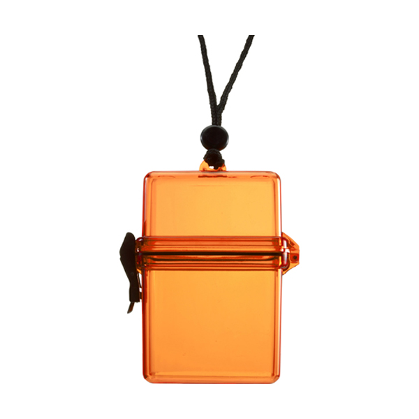 Waterproof container. in orange