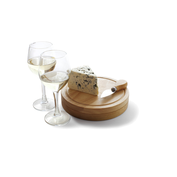 Cheese set in brown