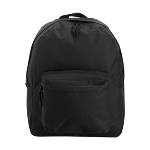Polyester backpack in black