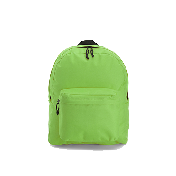 Polyester backpack in light-green
