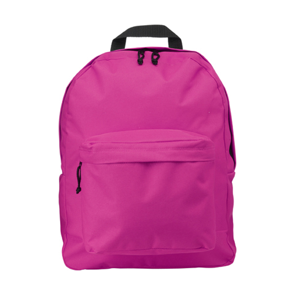 Polyester backpack in pink