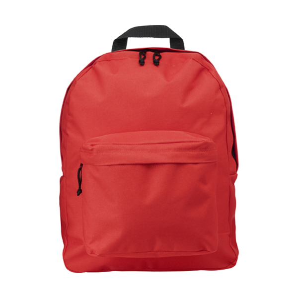 Polyester backpack in red