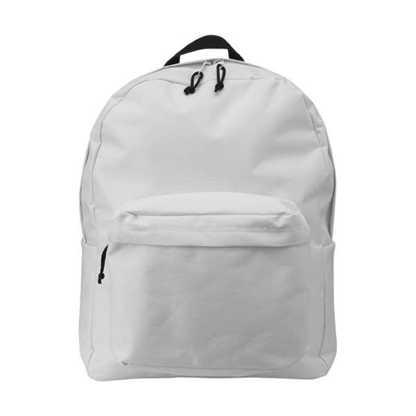 Polyester backpack in white