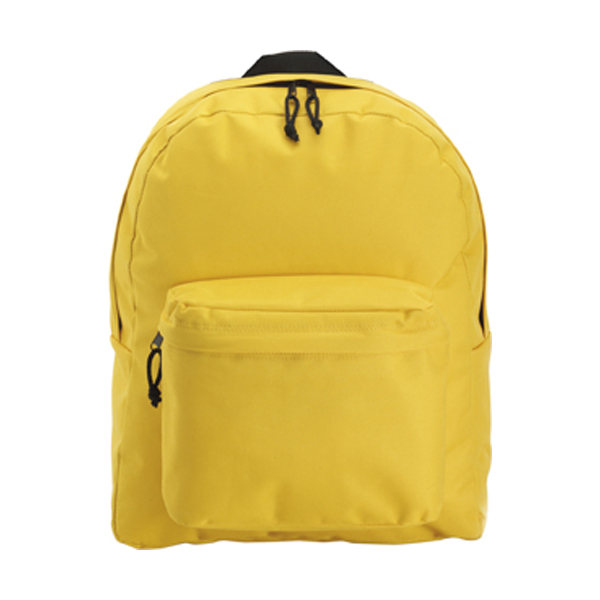 Polyester backpack in yellow