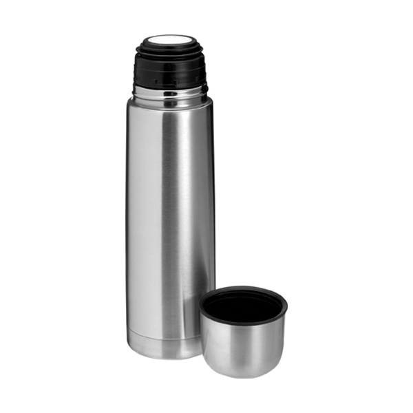 Vacuum flask, 0.5 litre in silver
