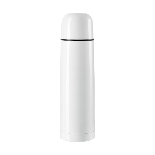 Vacuum flask, 0.5 litre in white