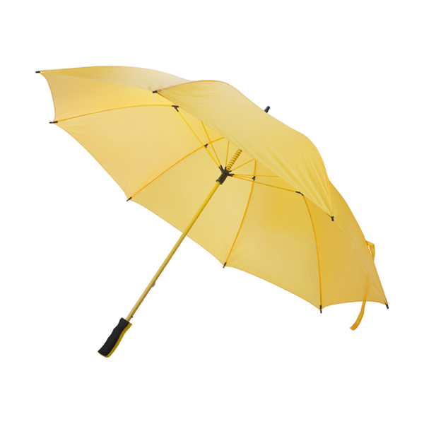 Golf size umbrella with polyester fabric in yellow