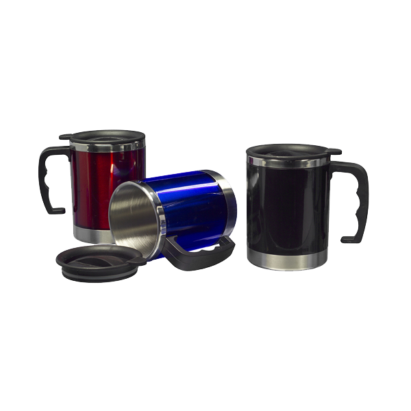 Mug with 0.4 litre capacity in red