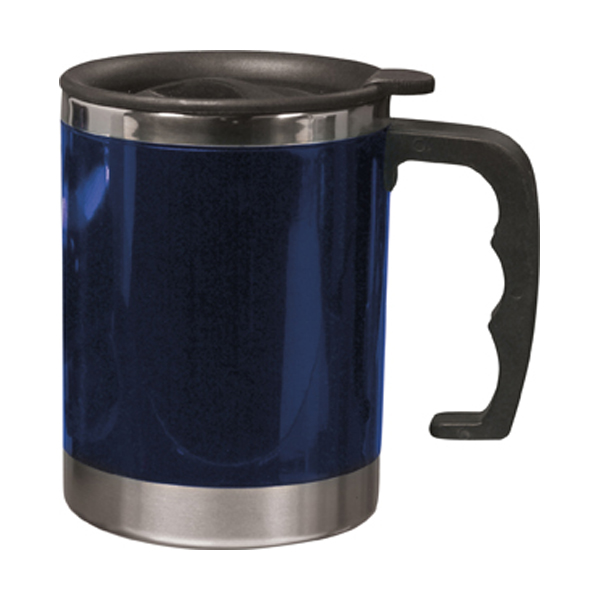 Mug with 0.4 litre capacity in blue