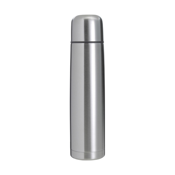 Vacuum flask, 1 litre capacity in silver