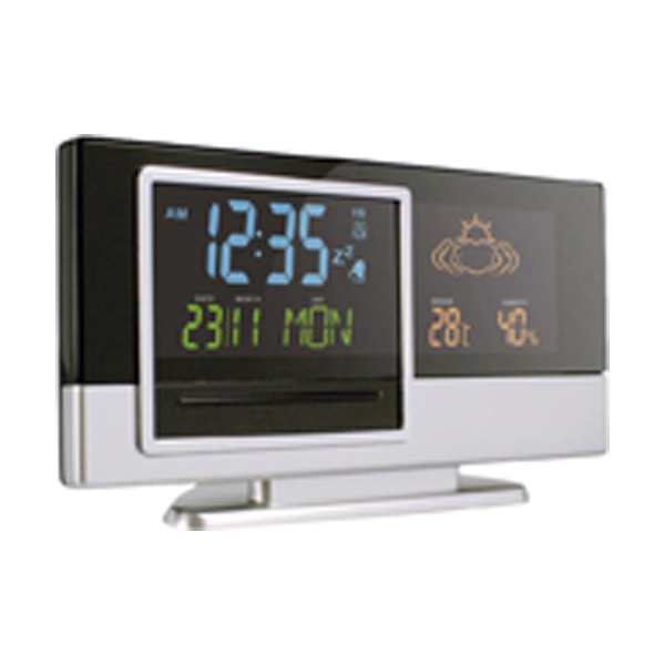 Weather station, (not for the UK or Ireland)  in black-and-silver