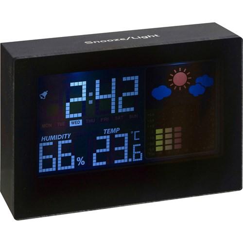 Digital weather station in black