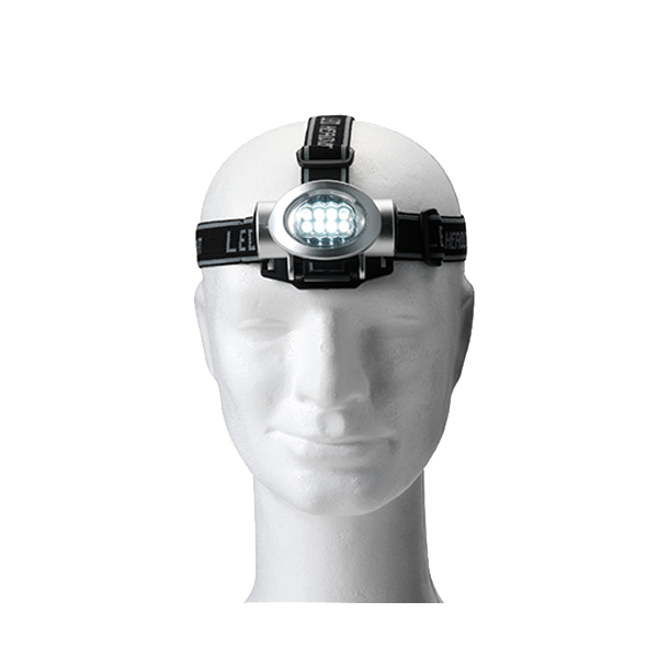 Head light with 8 LED lights in silver