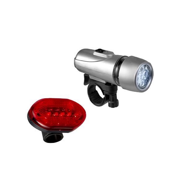 Set of two bicycle lights in multicoloured