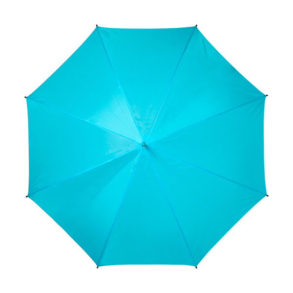 Automatic umbrella with eight panels. in light-blue
