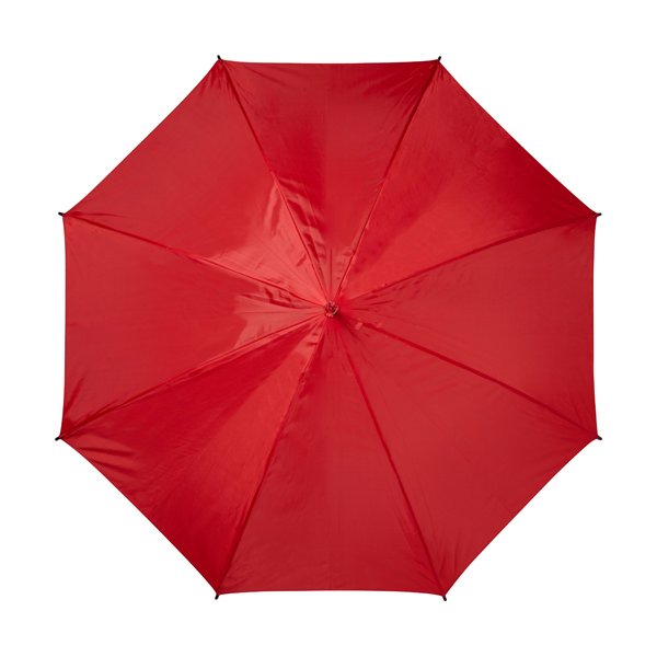 Automatic umbrella with eight panels. in red