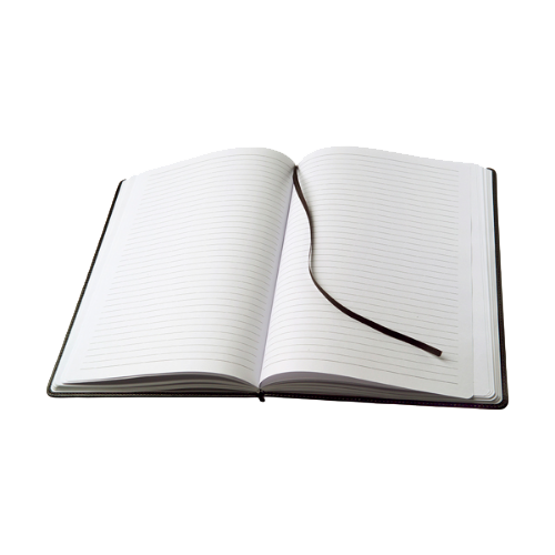 Large notebook in a PU case in