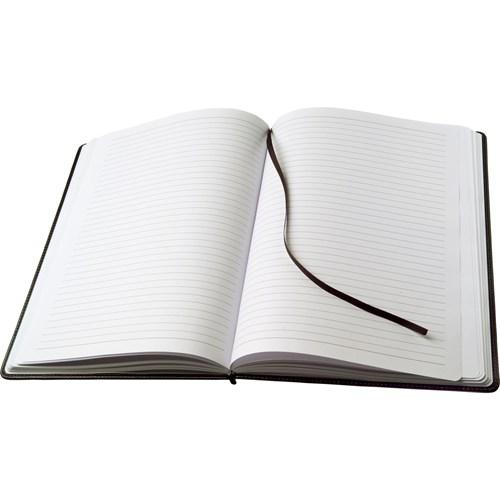 Large notebook in a PU case in black