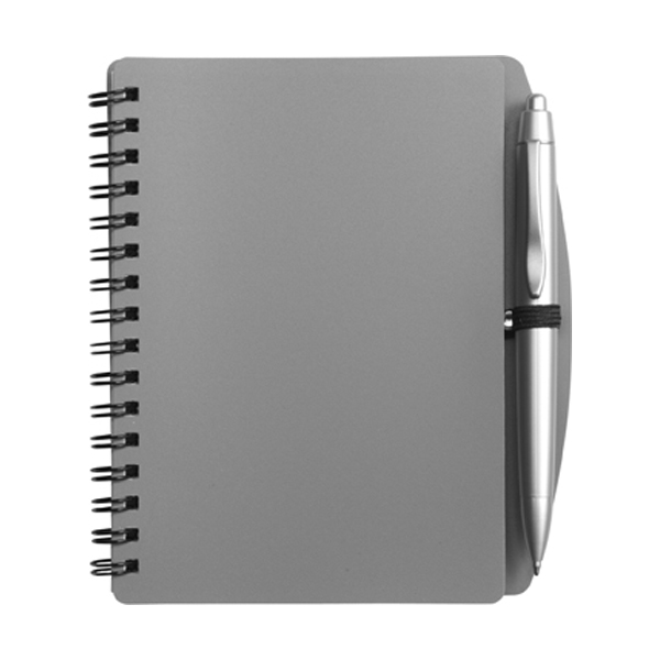A6 Spiral notebook in grey