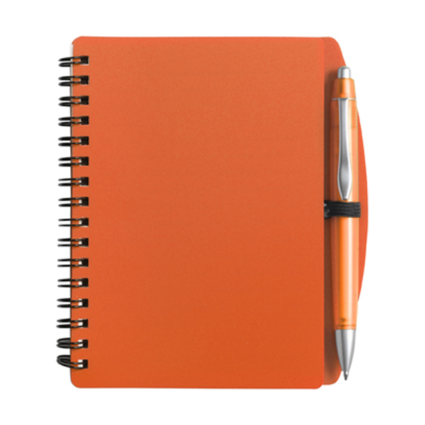 A6 Spiral notebook in orange