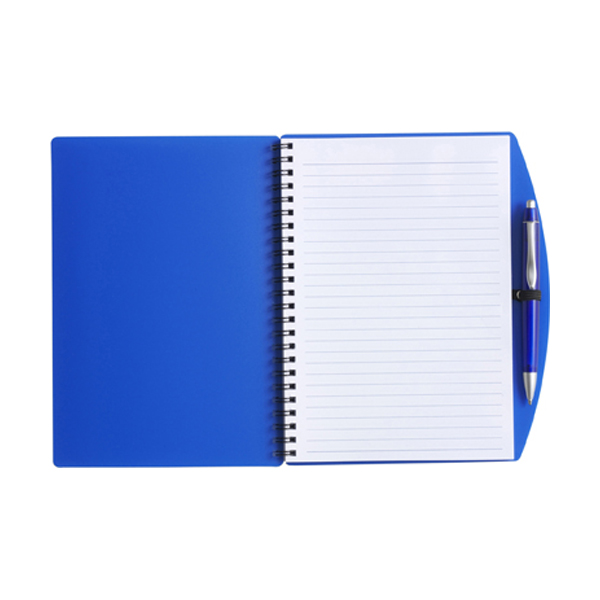 A5 Spiral notebook in blue