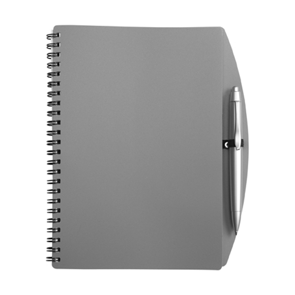 A5 Spiral notebook in grey
