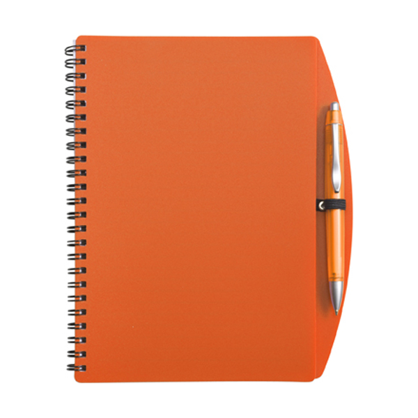 A5 Spiral notebook in orange