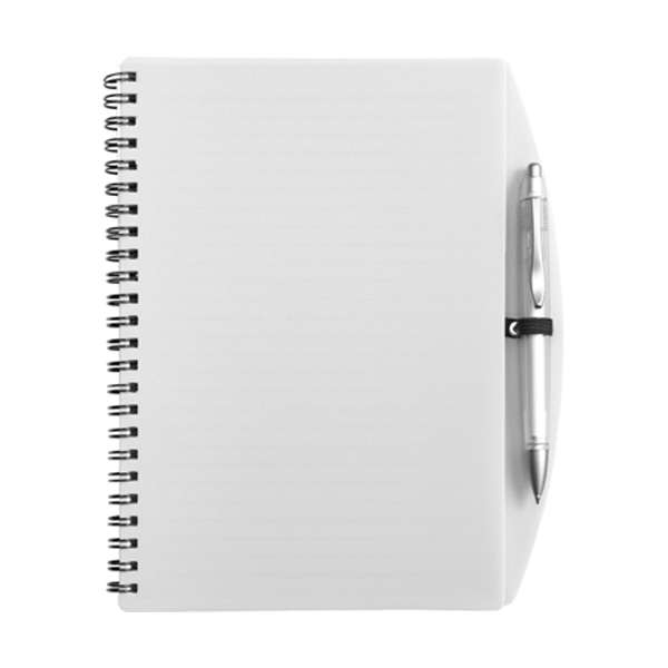 A5 Spiral notebook in white