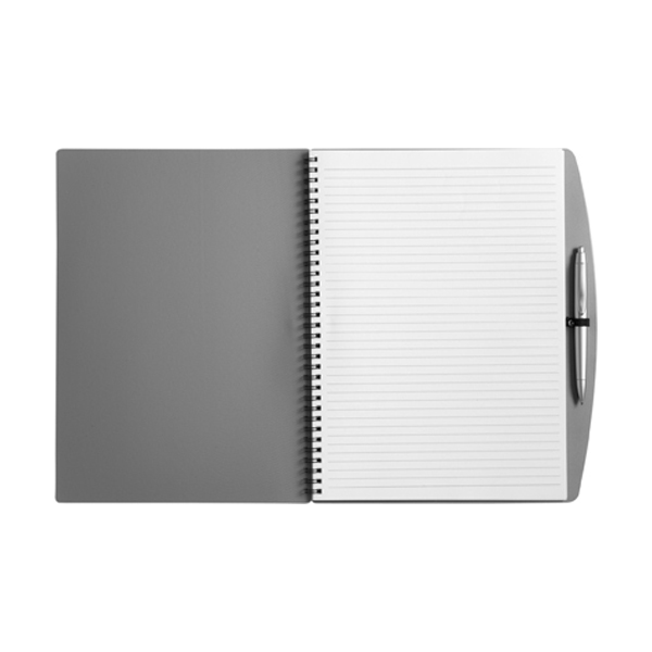 A4 Spiral notebook in grey