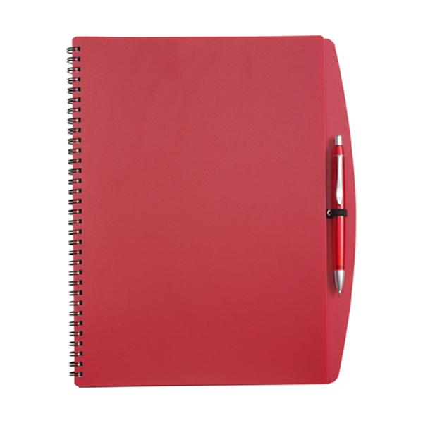 A4 Spiral notebook in red