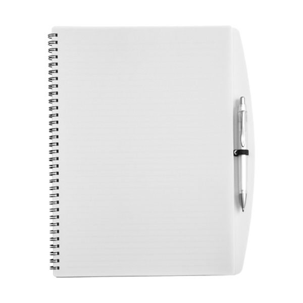 A4 Spiral notebook in white