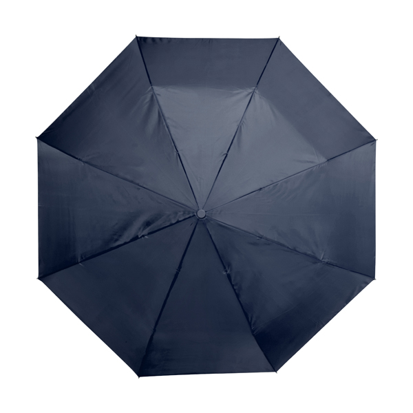 Automatic polyester foldable eight panel umbrella. in blue