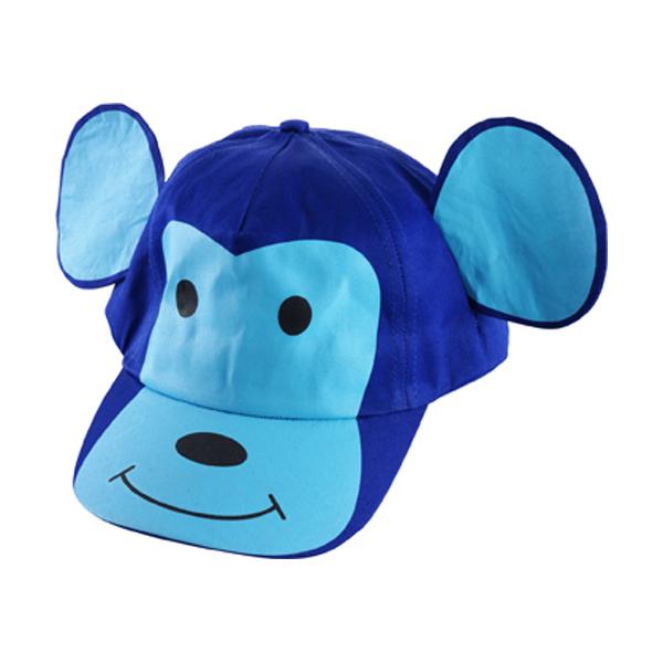 Cotton cap for children in blue