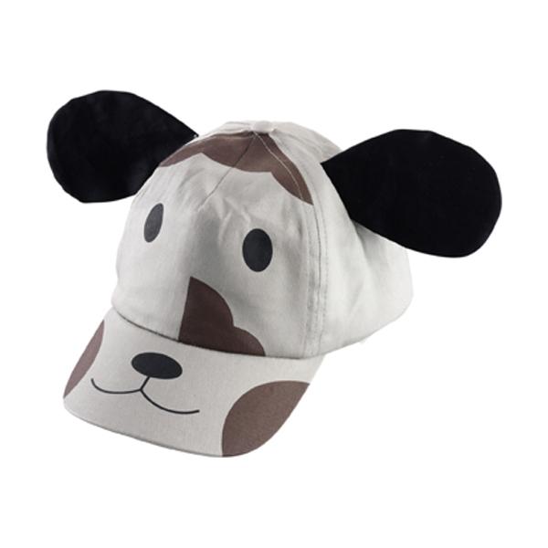 Cotton cap for children in grey
