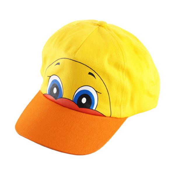 Cotton cap for children in yellow