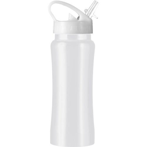 Stainless steel drinking bottle in white